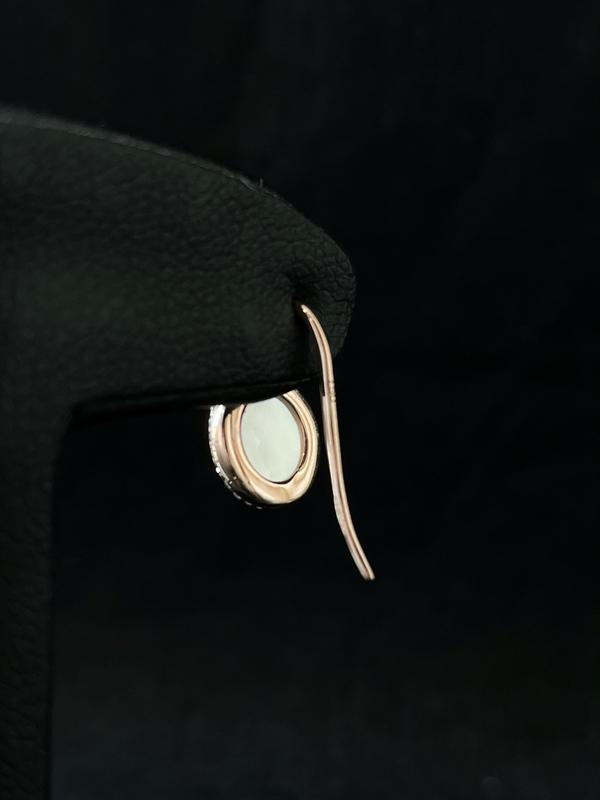 Boucles d'oreilles nacre et brillants