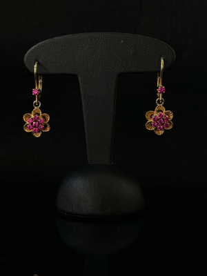 Boucles d'oreilles rubis