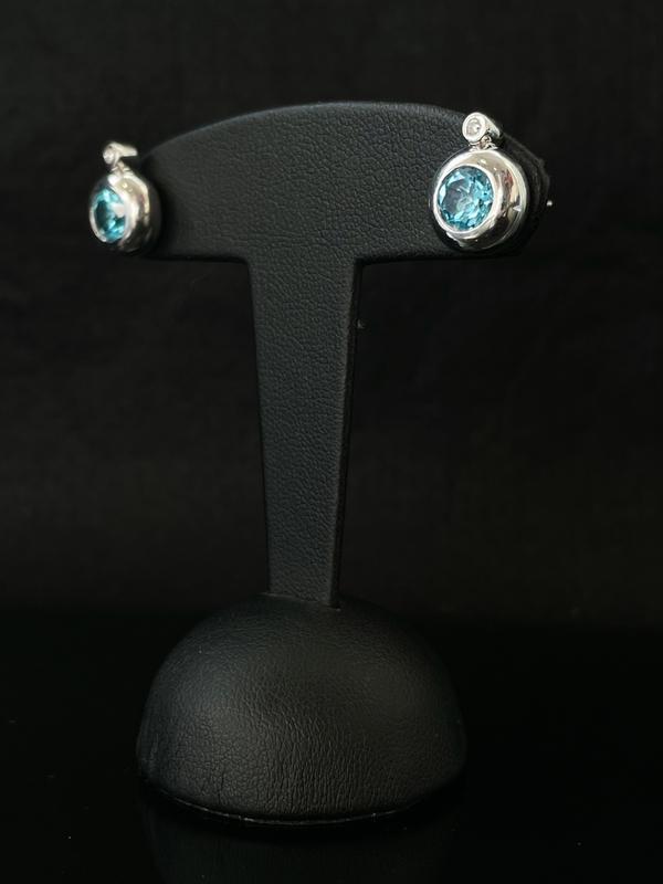 Boucles d'oreilles topaze