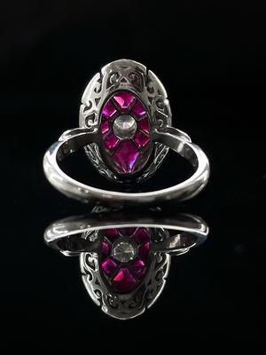 Bague art deco rubis et diamants