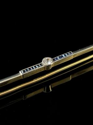 Broche/barrette saphir et diamant