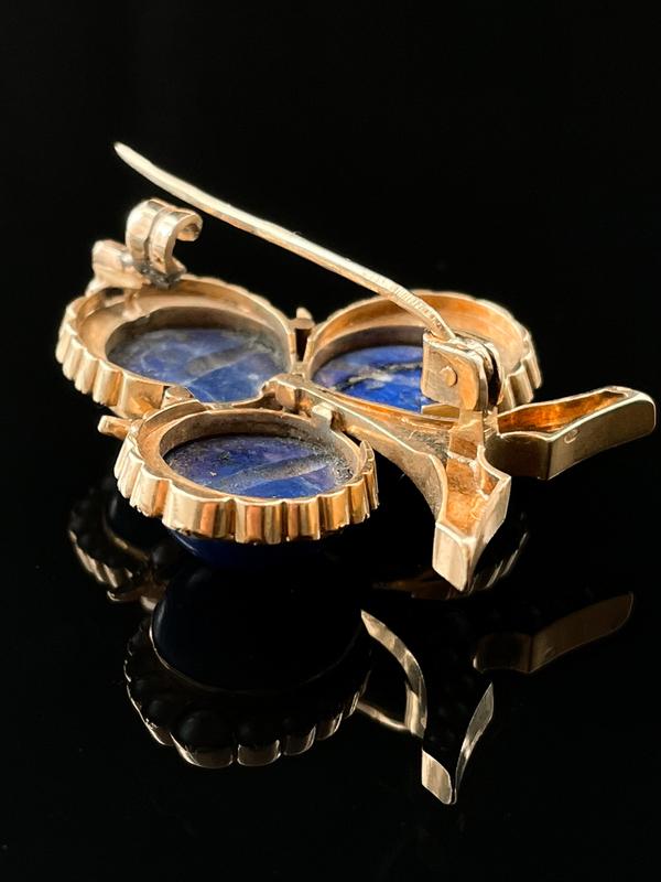 Broche lapis lazuli