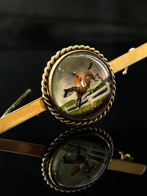 Broche/barrette cristal anglais