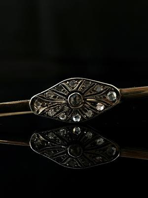 Broche/barrette diamants