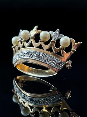 Broche couronne