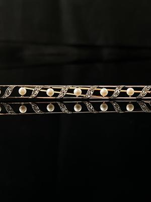 Broche/barrette perles