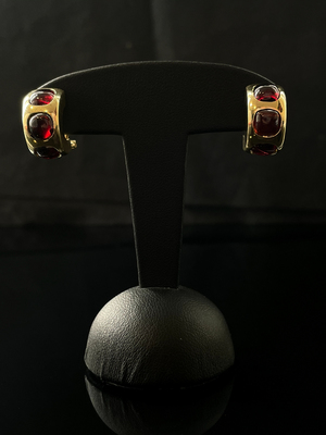 Boucles d'oreilles grenats