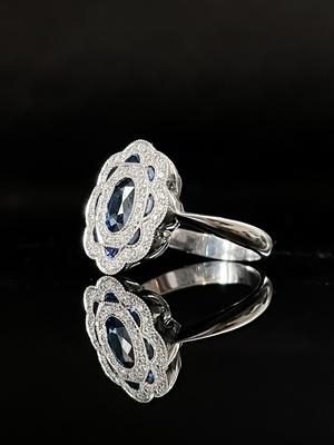 Bague saphir et diamants