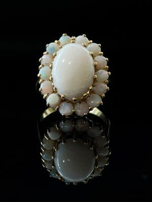Bague opale
