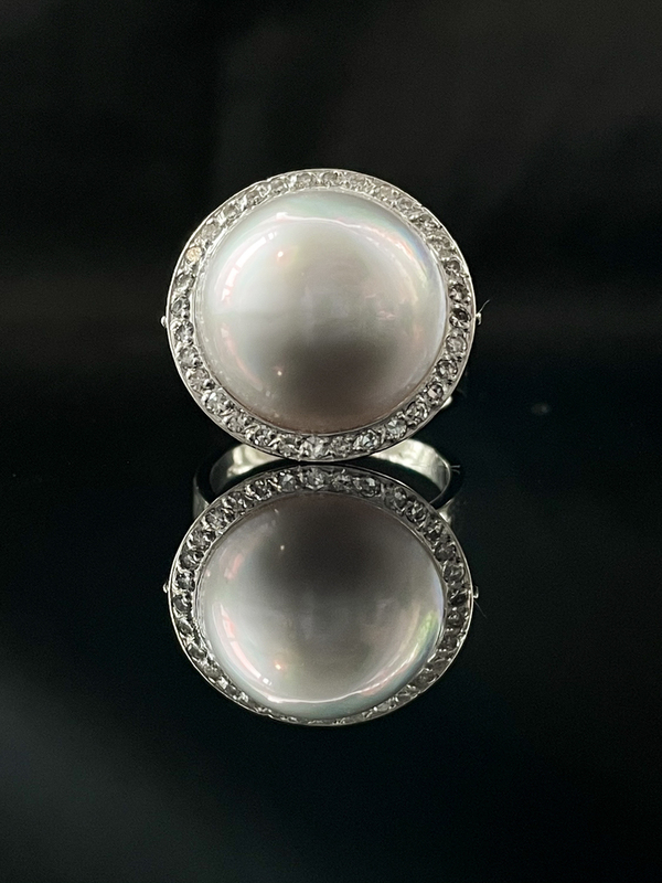 Bague perle mabée