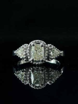 Bague trilogie diamants