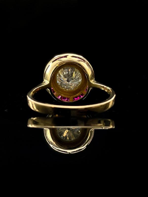 Bague ancienne diamant et rubis