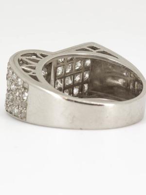 Bague tank pavage diamants