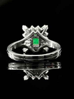 Bague emeraude et diamants