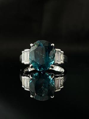 Bague topaze et diamants