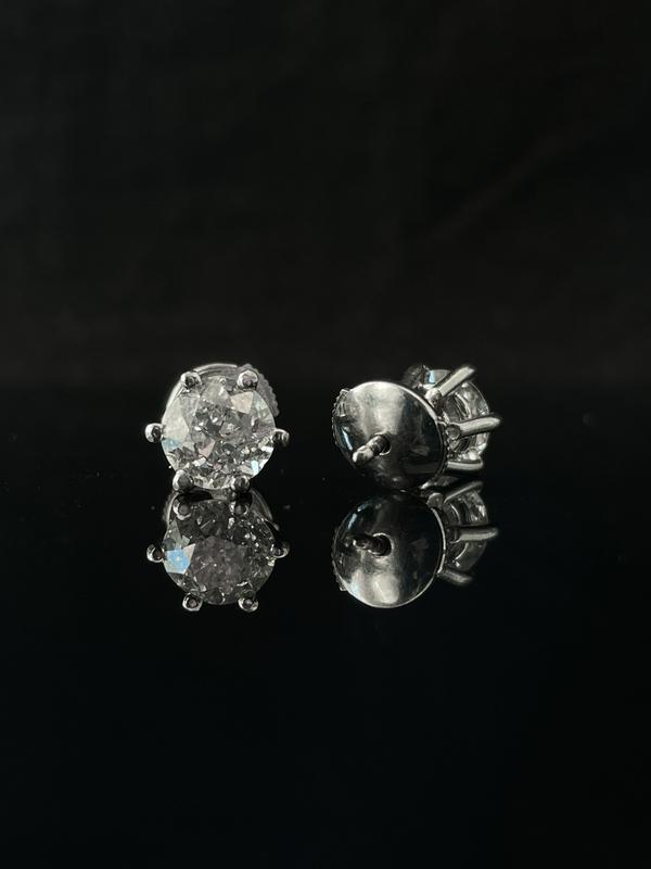 Boucles d'oreilles diamant solitaire