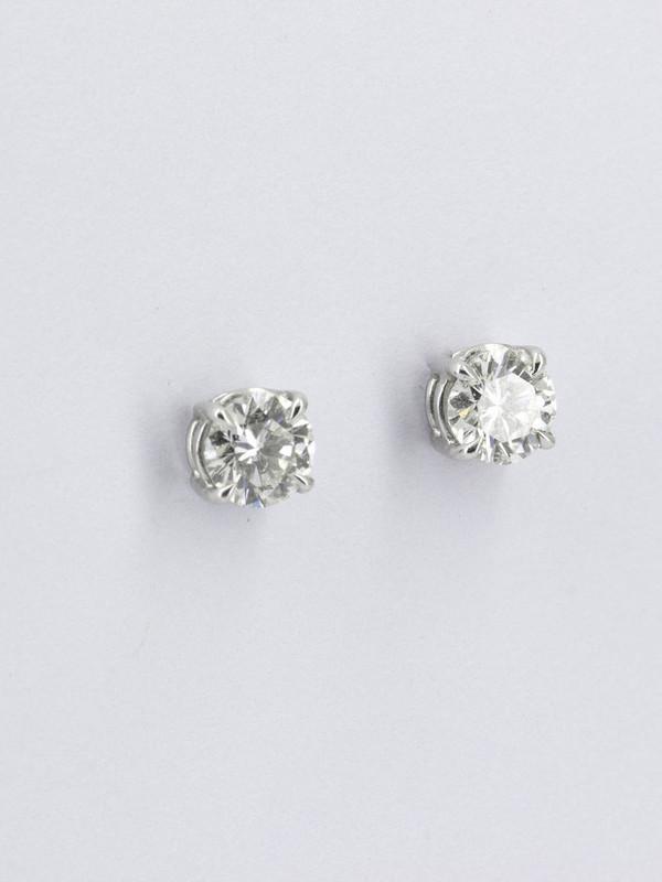 Boucles d'oreilles solitaire diamant